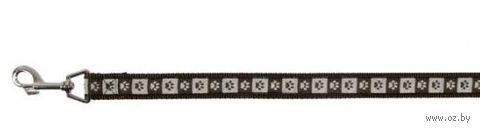 "Поводок для собак ""Modern Art Coffee"" (коричневый, размер XS-S, 120 см, арт. 15886)"
