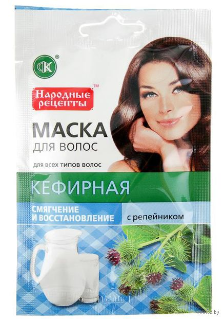 """Маска для волос """"Кефирная с репейником"""" (30 мл)"""