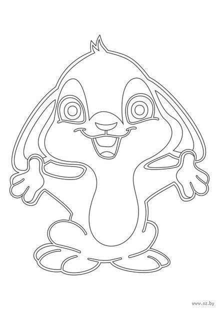 """Трафарет для рисования песком """"Кролик"""" (А5)"""