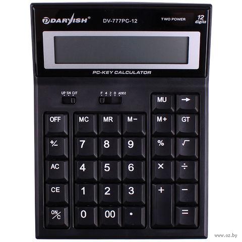 """Калькулятор настольный """"Darvish"""" (12 разрядов; арт. DV-777PC-12) — фото, картинка"""