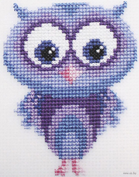 "Вышивка крестом ""Совушка"" (100х130 мм) — фото, картинка"