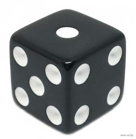 """Кубик D6 """"Простой"""" (16 мм; чёрно-белый) — фото, картинка"""