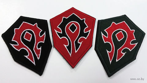 """Нашивка на двусторонней липучке """"World of Warcraft. Орда"""" (Ассорти)"""