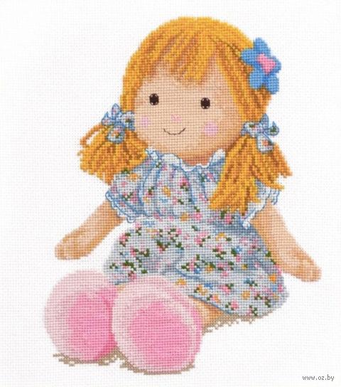 "Вышивка крестом ""Кукла Маша"" (190x250 мм) — фото, картинка"