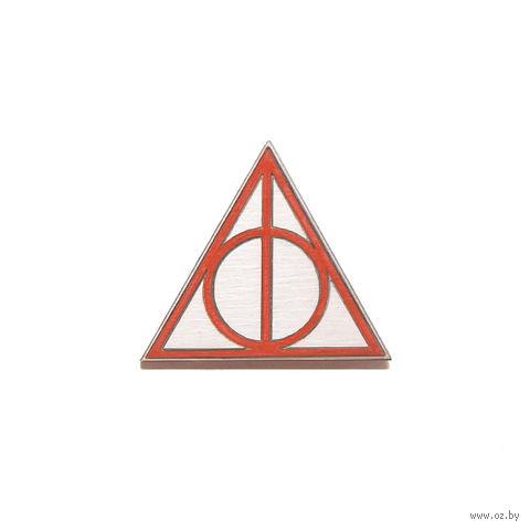 "Значок деревянный ""Гарри Поттер. Дары смерти"" (красный)"