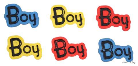"""Пуговицы декоративные """"Boy"""" (6 шт.) — фото, картинка"""