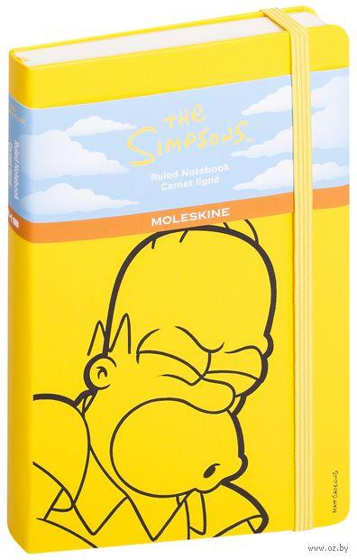 """Записная книжка Молескин """"The Simpsons"""" в линейку (А5; желтая)"""