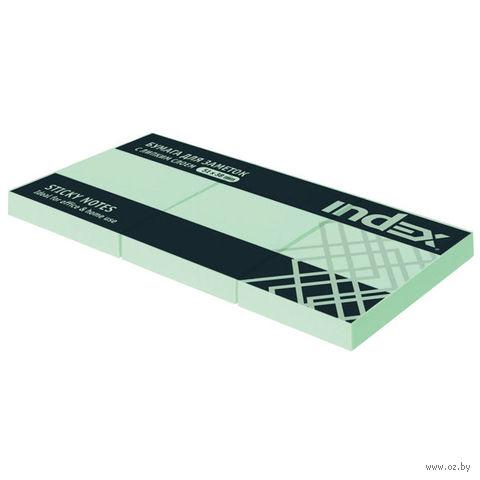 Стикеры (51х38 мм; 100 листов; зеленые) — фото, картинка