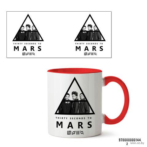 """Кружка """"30 seconds to mars"""" (144, красная)"""