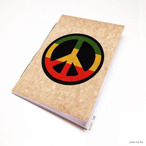 """Блокнот крафт """"Peace"""" А6 (807)"""