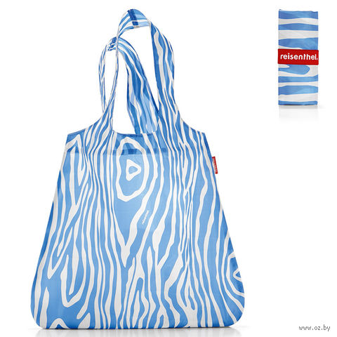 "Сумка складная ""Mini maxi shopper"" (zebra blue)"