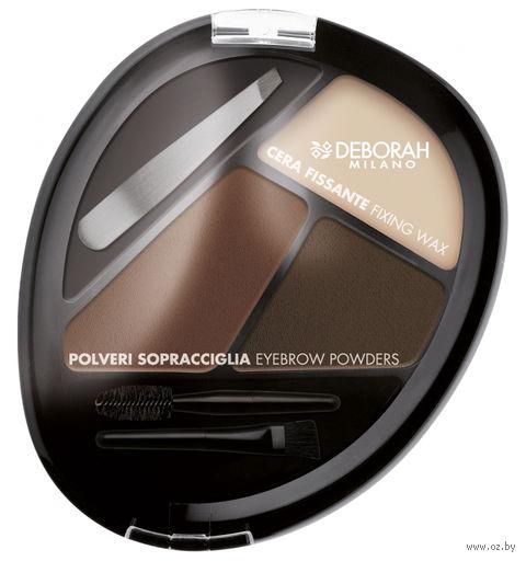 """Палетка теней для бровей """"DH Perfect Eyebrow"""" (тон: брюнетка) — фото, картинка"""