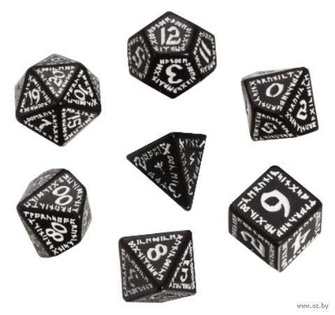 """Набор кубиков """"Рунический"""" (7 шт.; черно-белый) — фото, картинка"""