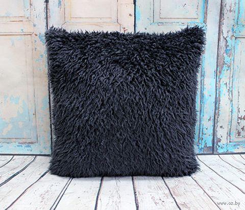 "Подушка ""Аляска"" (45x45 см; серая) — фото, картинка"