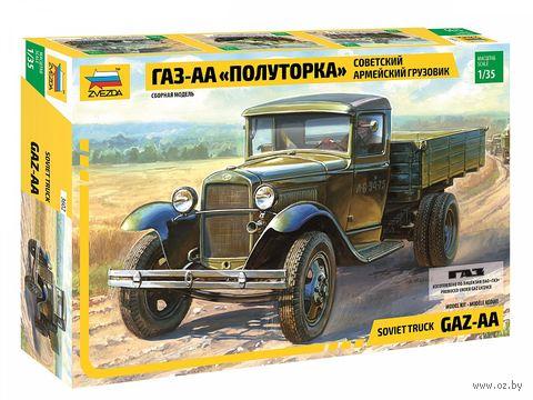 "Армейский грузовик ""полуторка"" ГАЗ-АА (масштаб: 1/35)"