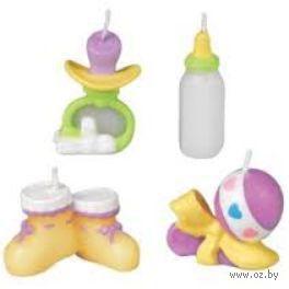 """Набор свечей для торта """"Вещи малыша"""" (4 шт; арт. WLT-2811-855)"""