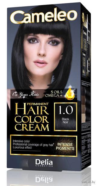 """Крем-краска для волос """"Cameleo"""" (тон: 1.0, черный) — фото, картинка"""