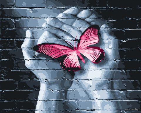 """Картина по номерам """"Бабочка в руках"""" (400х500 мм) — фото, картинка"""