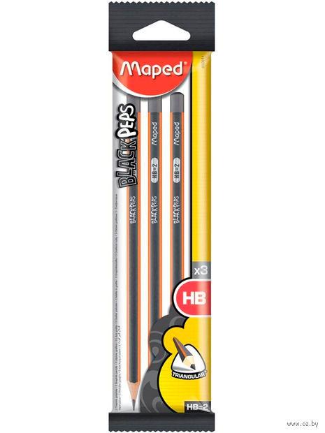 Набор карандашей чернографитных (3 шт.; HB) — фото, картинка