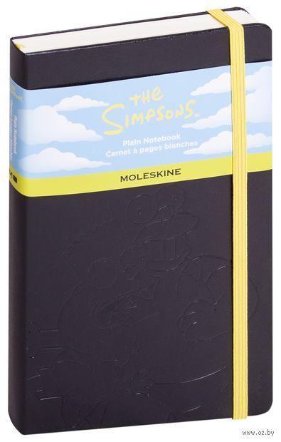 """Записная книжка Молескин """"The Simpsons"""" нелинованная (большая; твердая черная обложка)"""