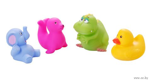 """Набор игрушек для купания """"Маленькие животные"""" (4 шт)"""