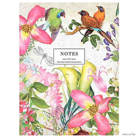 "Блокнот ""Flowers and Birds"" А5 (40 листов)"
