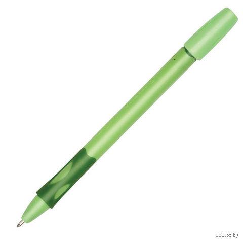 """Ручка шариковая для левшей """"LeftRight"""" (цвет корпуса: зеленый; цвет стержня: синий)"""