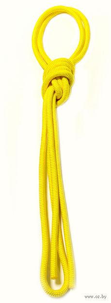 Скакалка для художественной гимнастики Pro 10101 (жёлтая) — фото, картинка