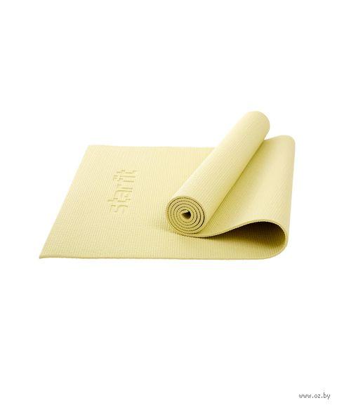 """Коврик для йоги """"Core FM-101"""" (173x61x0,6 см; желтая пастель) — фото, картинка"""