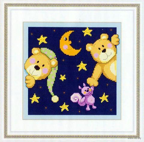 """Алмазная вышивка-мозаика """"Звёздная ночь"""" (280х280 мм) — фото, картинка"""