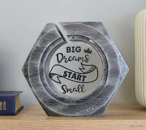 "Копилка ""Гайка. Big dreams start small"" (арт. BN-4.007) — фото, картинка"