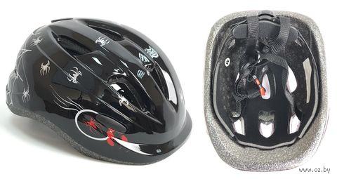 Шлем велосипедный детский (M; чёрно-бело-красный; арт. 09-2M) — фото, картинка