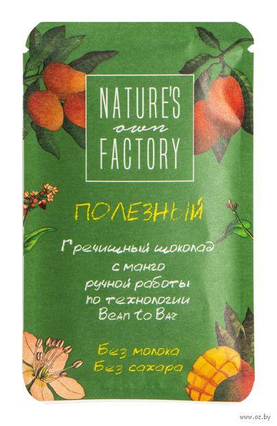 "Шоколад молочный ""Nature's Own Factory. Гречишный с манго"" (20 г) — фото, картинка"