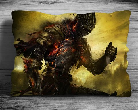 """Подушка """"Dark Souls"""" (арт. 1; 28х38 см) — фото, картинка"""