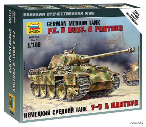 "Немецкий средний танк Pz.V Ausf. A Panther (T-V A ""Пантера"") (масштаб: 1/100) — фото, картинка"