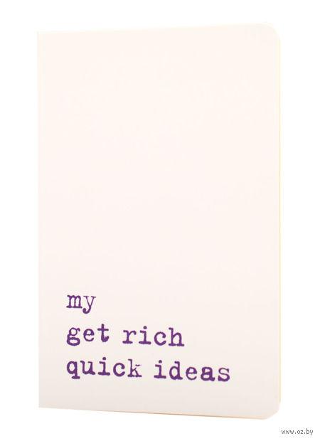 """Записная книжка Молескин """"Volant. My Get Rich Quick Ideas"""" в линейку (карманная; мягкая белая обложка)"""