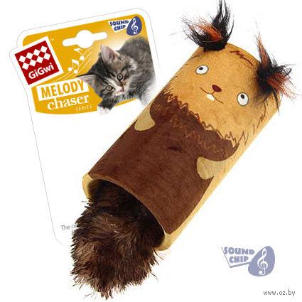 """Игрушка для кошек со звуковым чипом """"Белка-цилиндр"""" (22 см) — фото, картинка"""