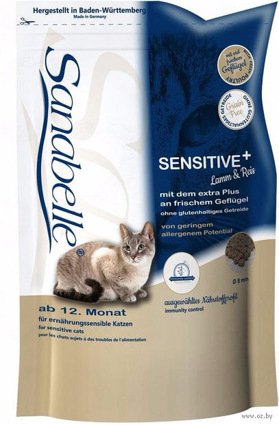"Корм сухой для кошек ""Sensitive"" (2 кг; ягненок) — фото, картинка"