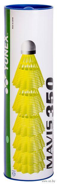 "Набор воланов для бадминтона ""Mavis 350 Yellow-Middle"" (6 шт.) — фото, картинка"