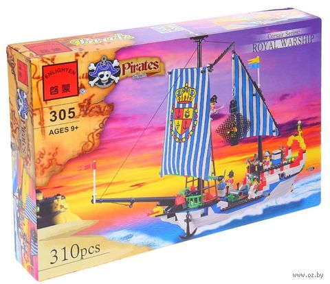 """Конструктор """"Пираты. Королевский корабль"""" (310 деталей)"""