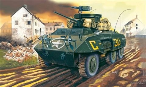 "Бронеавтомобиль ""M-8 GREYHOUND"" (масштаб: 1/72) — фото, картинка"