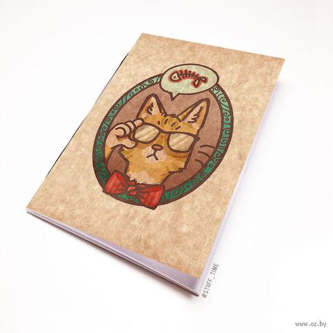 """Блокнот крафт """"Кот"""" (А5; арт. 238) — фото, картинка"""