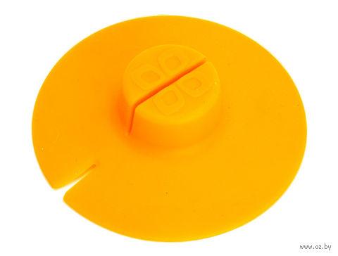 Крышка для заваривания и отжима чайных пакетиков (оранжевая) — фото, картинка