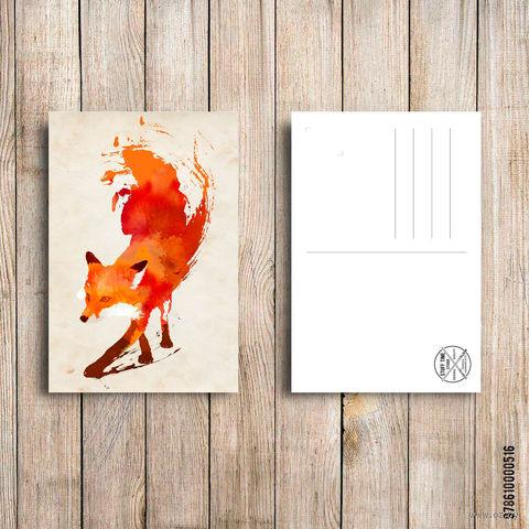 """Открытка """"Лиса"""" (арт. 516) — фото, картинка"""