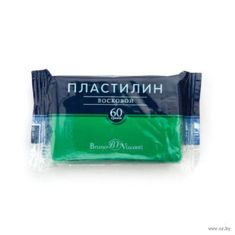 Пластилин восковой (60 г; зеленый) — фото, картинка