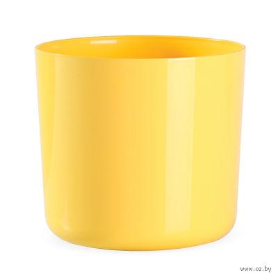 """Цветочный горшок """"Alegra"""" (14 см; мягкий желтый) — фото, картинка"""