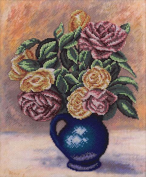 """Набор для вышивания """"Розы в синей вазе"""" (240х280 мм) — фото, картинка"""