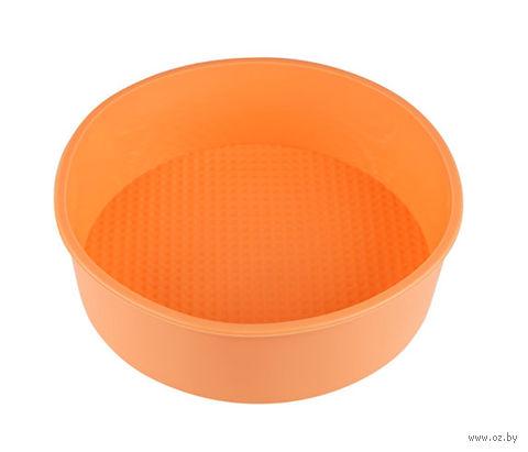 Форма для выпекания силиконовая (200х60 мм; персиковая) — фото, картинка