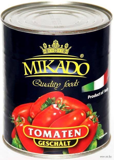 """Томаты очищенные """"Mikado. В собственном соку"""" (850 мл) — фото, картинка"""