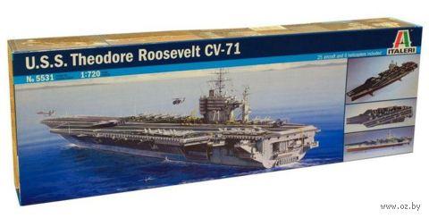 """Сборная модель """"Американский авианосец U.S.S. Roosevelt CVN-71"""" (масштаб: 1/72) — фото, картинка"""